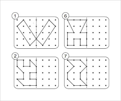 Dotted Line Template Download Shapes Dotted Lines Reflective Symmetry Template For Free