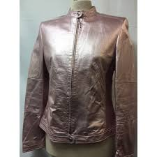 a beautiful escada leather jacket size10 pink womens clothing zighhm19398