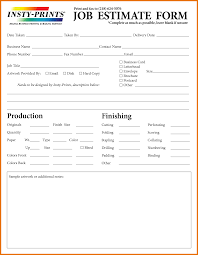 job estimate form itinerary template sample docstoc 404 not found
