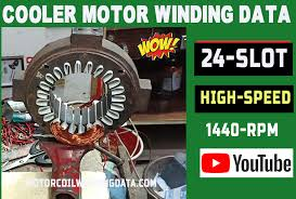 24 slot cooler motor rewinding with