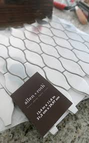 diy kitchen backsplash modish main allen roth melted lava pearl glass mosaic indoor outdoor wall tile common