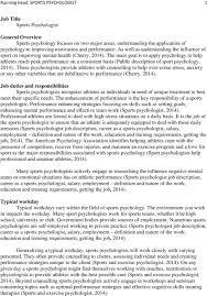Running Head Sports Psychologist 1 Pdf Free Download