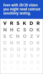 Pelli Robson Chart Contrast Sensitivity Testing Contrast Sensitivity