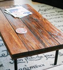 Industrial Coffee Table Reclaimed Wood Rectangular Industrial Coffee Table Features