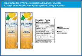 aquafina sparkling mango pineapple water beverage