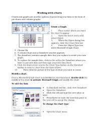 2003 Charts Working With Charts In Word 2003