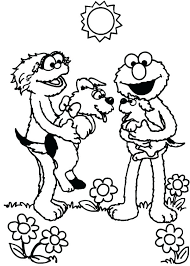 Baby Sesame Street Coloring Pages To Print Of Characters Colouring