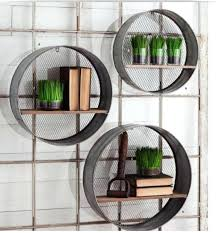 round metal wall shelves in three sizes this listing is for the largest size shown shelf urban trends round metal wall shelf
