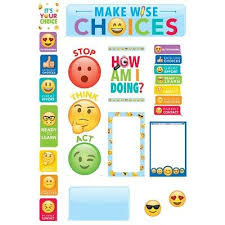 Emoji Fun Behavior Clip Chart Mini Bulletin Board Set By