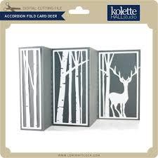 fold card accordion fold card deer lori whitlock s svg shop