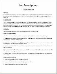 Comprehensive Job Description Template Word Excel Templates Classy Job Description Template Word