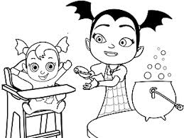 For more picture related to the sheet right above you your kids can check the below related images widget at the end of the site or maybe surfing by category. Free Printable Disney Junior Vampirina Coloring Pages For Kids