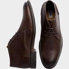 joseph abboud men joseph abboud gabe rust chukka boots textured rust boots
