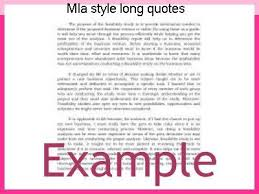 Mla Long Quote Enchanting Mla Style Long Quotes Term Paper Academic Writing Service