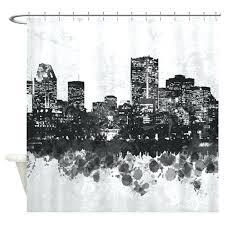 cityscape shower curtain shower curtains art shower curtain bathroom bath design city skyline home decor target cityscape shower curtain