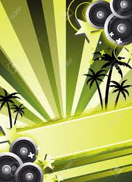 Green Party Flyer An Abstract Green Party Flyer Background