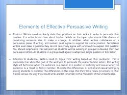 persuasive writing th grade elements of effective persuasive writing 8