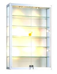 lockable display cabinet locked wall cabinets small glass for the home