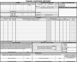Travel Expense Report Form : Sample Forms