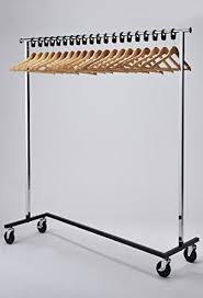 office coat hangers. RACK52 Mobile Chrome Coat Stand. Office Rack With Wood Hangers