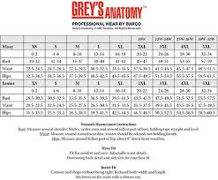 Grey S Anatomy Junior Fit Scrubs Size Chart Greys Anatomy Junior Fit Scrubs Size Chart Buurtsite Net