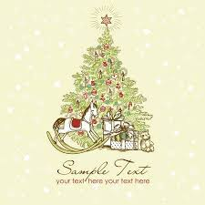 vintage christmas tree pictures. Fine Tree Vector  Vintage Christmas Card  Beautiful Tree Illustration Throughout Tree Pictures P