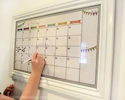 Diy Dry Erase Calendar ... Get A Cheap Frame From The Thrift Store ...