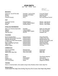 Actor Resume Template Free Acting Resume Samples And Examples Ace
