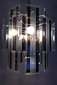 glass panel chandelier beveled glass chandelier panels vintage art hanging chandelier beveled reflective smoke gray glass glass panel chandelier