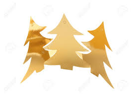Christmas Tree Labels Gold Christmas Tree Labels On White