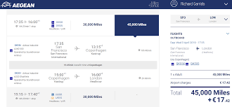Aegean Airlines Award Chart Aegean Miles Bonus Business Class Awards Compared To United