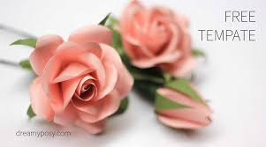 Chart Paper Flowers Step By Step Easy Tutorial To Make A Paper Rose Free Template