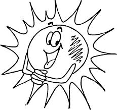 Lachende Zon Kleurplaat Gratis Kleurplaten Printen