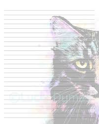 Lined Page Template Custom Digital Printable Journal Writing Lined Page Cat 48 Etsy