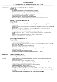 Document Specialist Job Description Resume Document Review Specialist Resume Samples Velvet Jobs 20