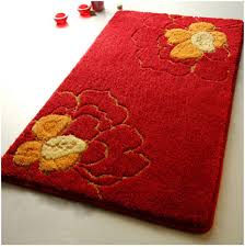 Red Kitchen Floor Kitchen Latex Backing Modern Kitchen Rugs Shag Area Rug Concrete