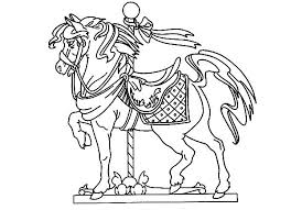 Free Carousel Horse Coloring Pages Printable Horse Coloring Pages