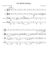 Music Spreadsheet Concerning Misty Mountains Sheet Music For Violin Viola