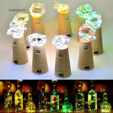 Đèn LED dây 10 bóng dài 1m hình nút bần dùng trang trí chai rượu vang