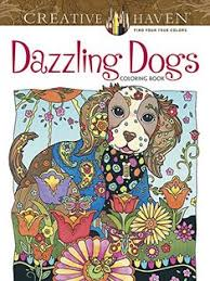 amazon creative haven dazzling dogs coloring book coloring 0800759803828 marjorie sarnat books