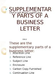Supplementary Parts Of A Business Letter Publishing Text