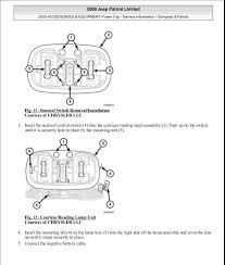 manual reparacion jeep compass patriot limited 2007 2009 sunroof 13 fig 11 sunroof switch removal installation