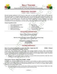 Early Childhood Resume Classy Resume For Preschool Teacher Sample Portfolios And R Sum S Pinterest