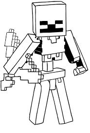 Disegno Di Scheletro Di Minecraft Da Colorare