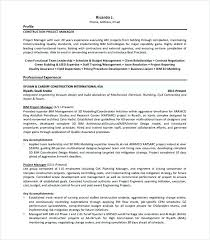 Project Manager Resume Templates Ladylibertypatriot Com