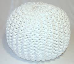Knitted Pouf Pattern