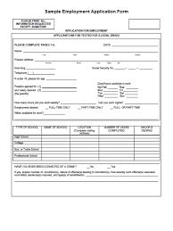 Job Application Form Download Free Job Application Form