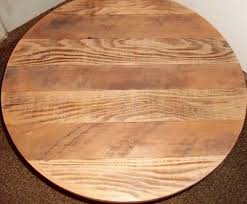 round rustic solid reclaimed barn wood 24 deli bar pub table top restaurant