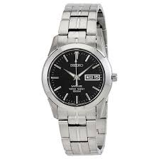 men s black dial sapphire crystal stainless steel watch seiko men s black dial sapphire crystal stainless steel watch seiko shop by brand world of watches
