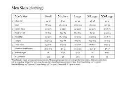 Knitting Sizes Chart Men Sizes Chart For Clothing Measurement Goodknit Kisses
